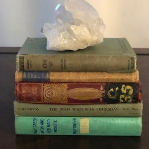 Vintage books. Primarily for decorative purposes.